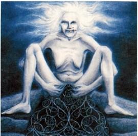 Sheila Na Gig, desenho de Hranajanto, O Oraculo da Deusa.