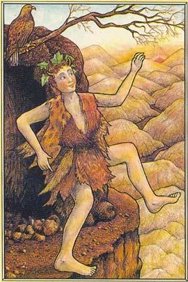 Divirta-se. Carta do Louco, do Tarô Mitológico, que retrata Dionísio e sua força para enfrentar o novo, de sorrir diante o desconhecido, de lançar-se numa jornada. - Divirta-se por hoje.
