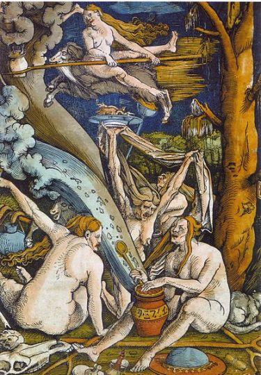 Bruxas, de Hand Baldung Grien, Woodcut 1508.