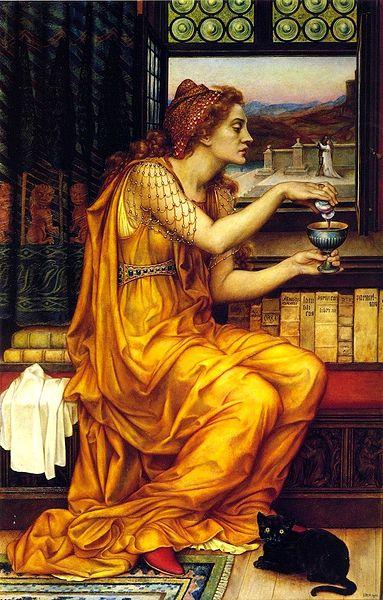 A poção do amor, de Evelyn de Morgan, pintora pré-rafaelita (Inglaterra entre 1850-1919).