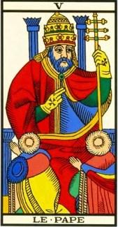 o hierofante o papa arcano 5