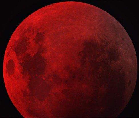 Eclipse total da Lua. Foto: Nasa.