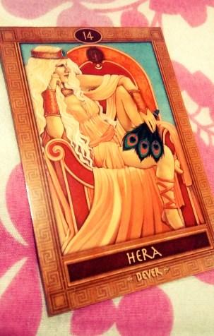 Hera. Carta do O Oráculo dos Deuses, Heróis e Titãs da Mitologia Grega. Ritual para problemas demorados, resolução de problemas demorados