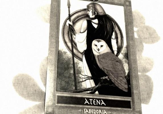 A Deusa Atena. Ilustração do Oráculo dos Deuses, Heróis e Titãs da Mitologia Grega.