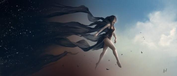 Representação das Deusas da Noite. Nyx by AuReL.