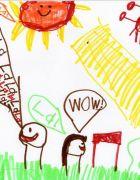 Dibujito de niños que intrigan a los adultos