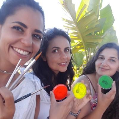 Pinturas Corporais Festa de Praia | Oficina de Sonhos - Animação e Decoração de Eventos Algarve