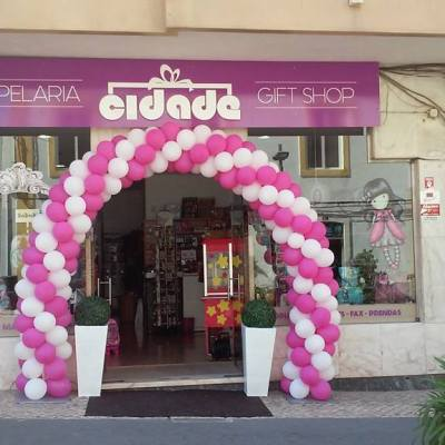 Arco de Balões Decoração de Loja | Oficina de Sonhos - Animação e Decoração de Eventos Algarve