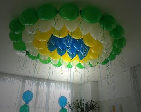como colar balões no teto