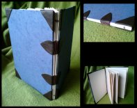 notebook_of_his_1_by_ynguer-d2znnveSimple codex binding, recycled paper, handmade paper and synthetic leather for cover.