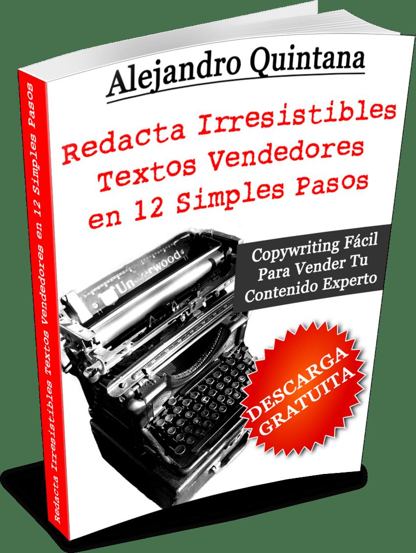 Redacta Irresistibles Textos Vendedores en 12 Simples Pasos - 3d Transp