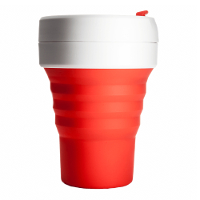 Silicone-Retractable-Folding-Coffee-Cup-Telescopic-Collapsible-Pocket-Red
