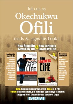 Ofilispeaks At Patabah Books This Weekend
