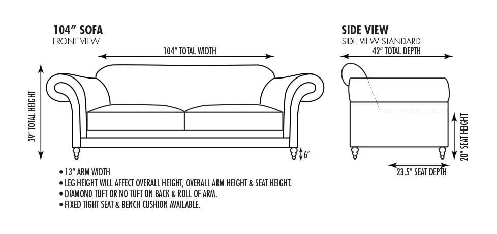 Emerson 104 Inch Sofa