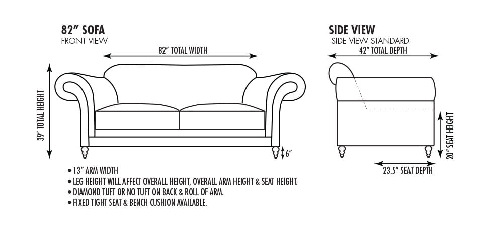 Emerson 82 Inch Sofa