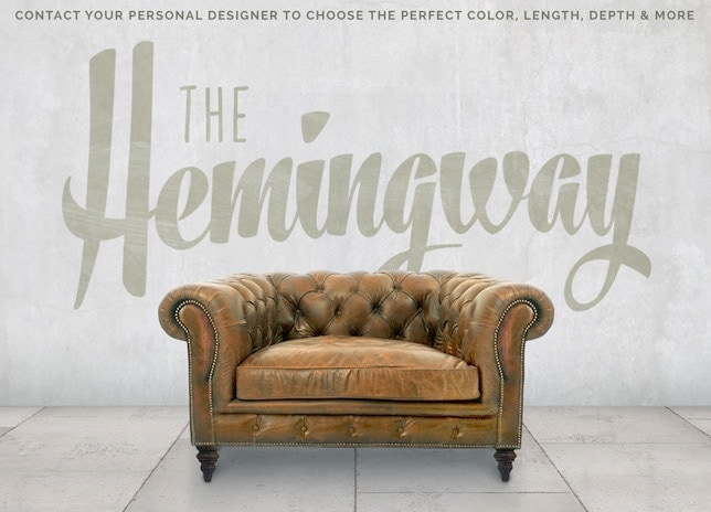 Hemingway Custom Chesterfield Chair