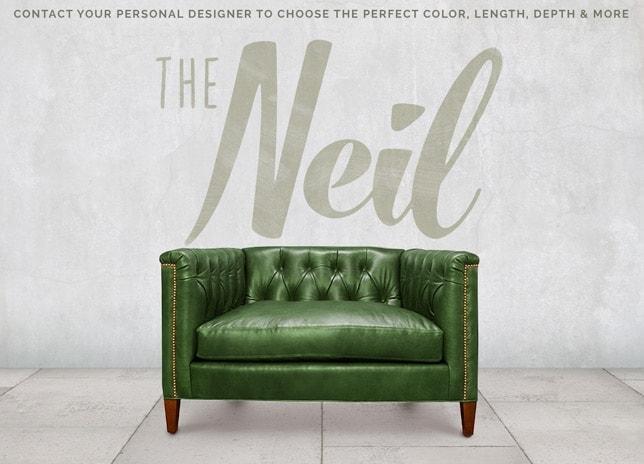 Neil Diamond Tufted Mid-Century Chair