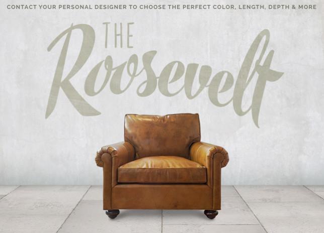 Roosevelt Roll Arm Lawson Chair