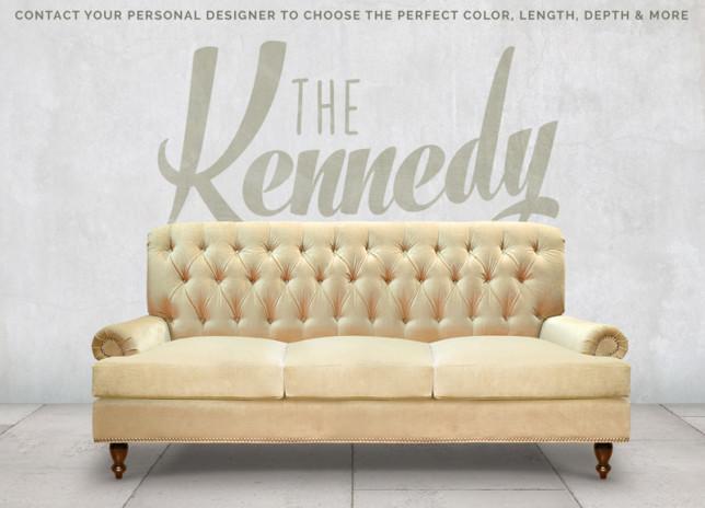 Kennedy Tufted Roll Arm Sofa