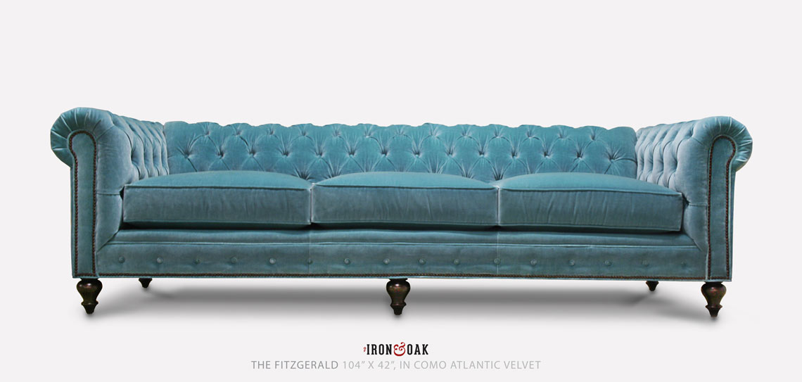 The Fitzgerald Classic Chesterfield Of Iron Amp Oak