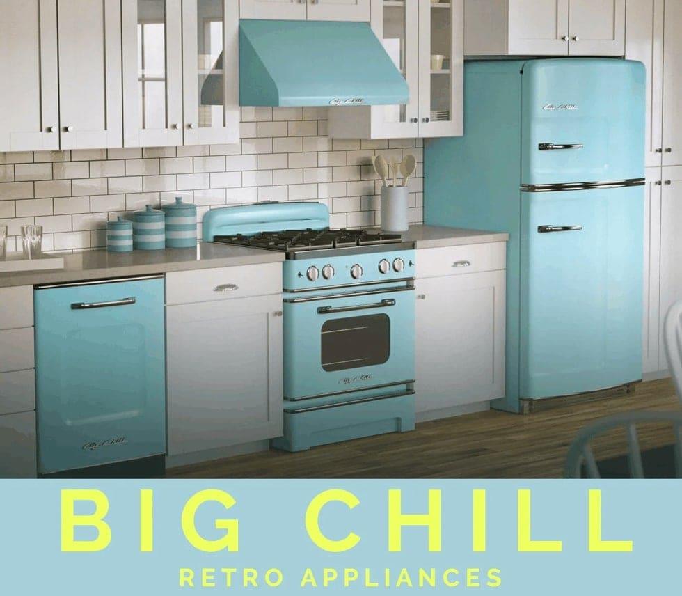 big chill retro appliances of iron oak