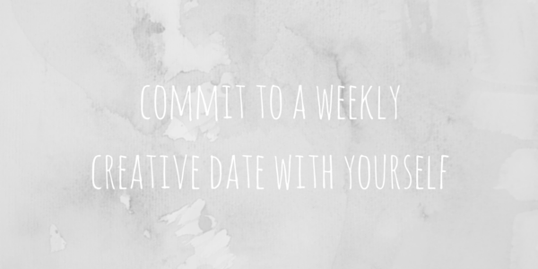 commit to a weeklycreative date with