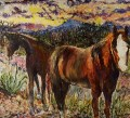 Horses at Sunset - Marianne D. Cracovaner