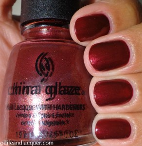 China Glaze On Your Knees! Swatch