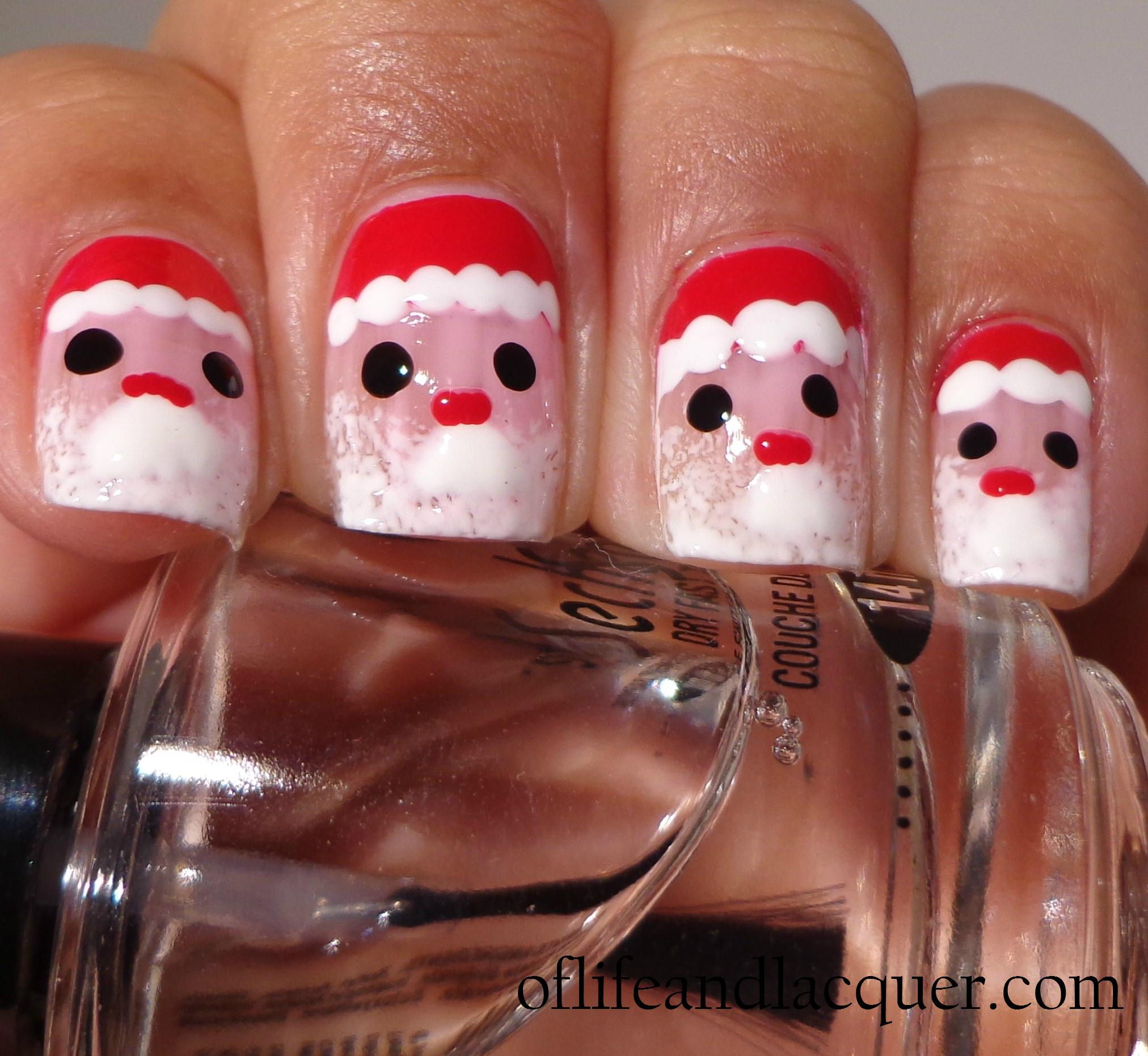 Santa Claus Nail Art: 31 Inspired Days Of Nail Art