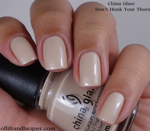 China Glaze Don't Honk Your Thorn 1a