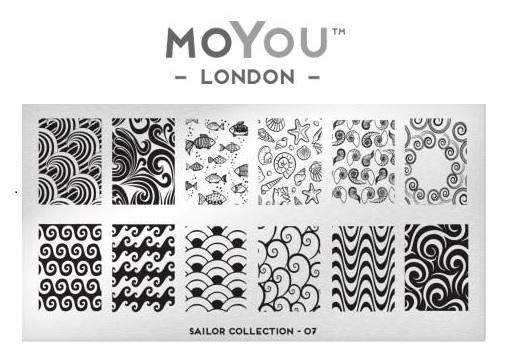 MoYou London Sailor Collection Plate 07