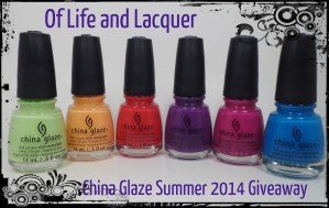 Winner Announced – China Glaze Summer 2014 Set