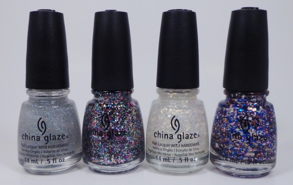 China Glaze Fairy Dust, Pizzazz, Luxe & Lush, Your Present Required 1