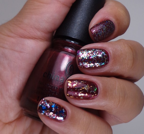 China Glaze Fairy Dust, Pizzazz, Luxe & Lush, Your Present Required 2