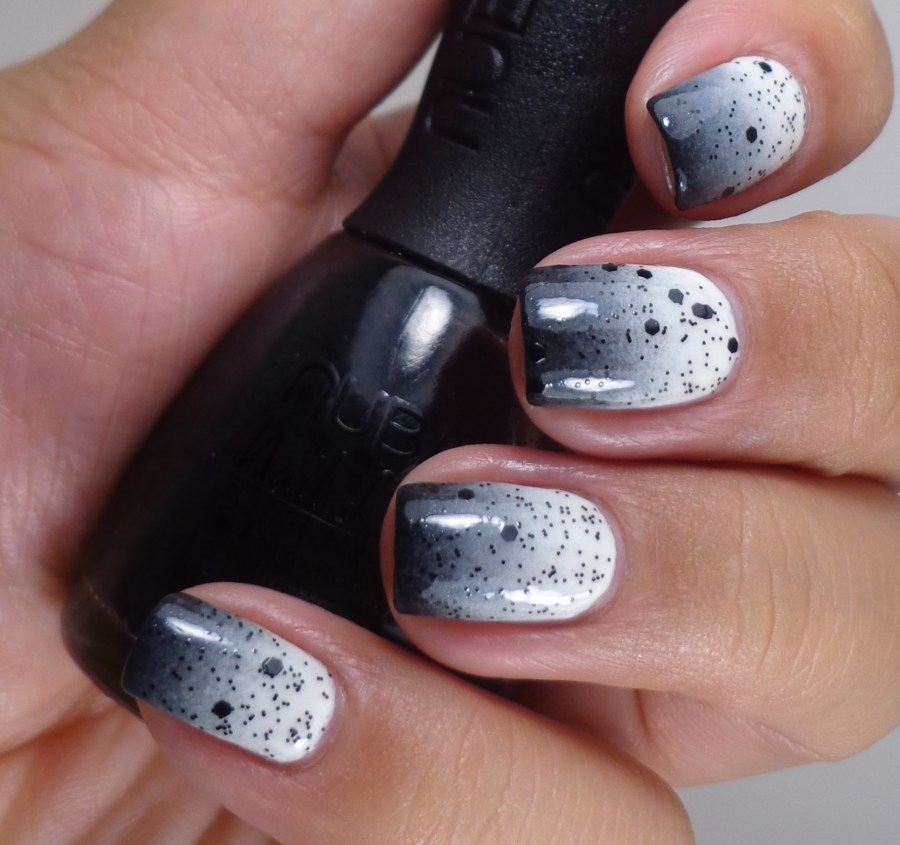 Black and White Gradient with Nubar Polka Dots 1