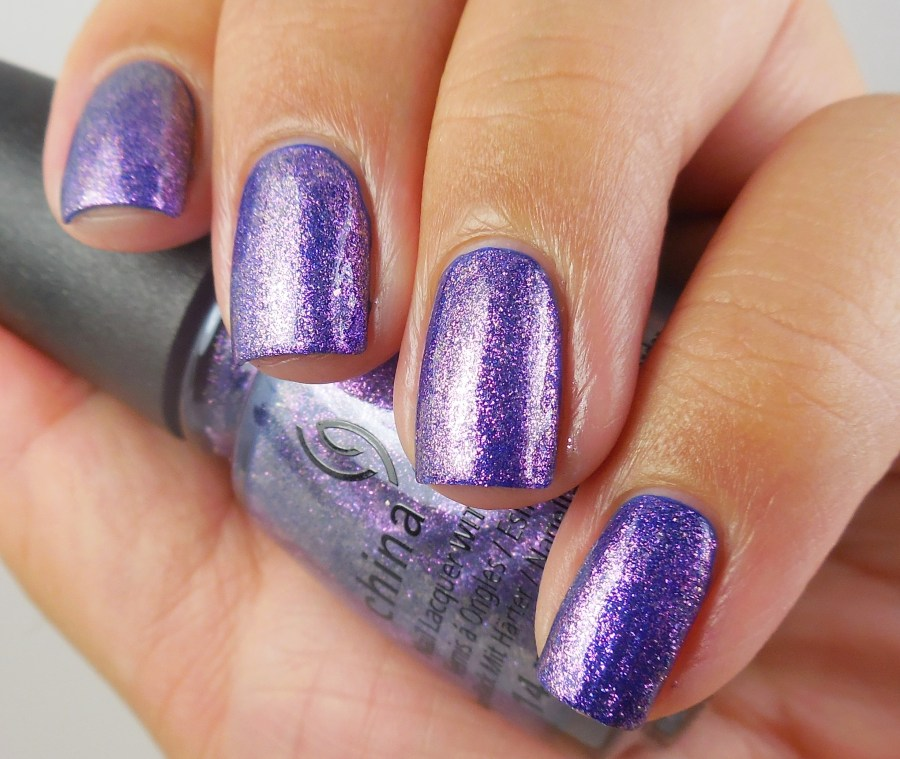 China Glaze Don't Mesh With Me over Combat Blue-ts 1