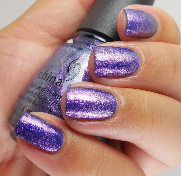 China Glaze Don't Mesh With Me over Combat Blue-ts 2
