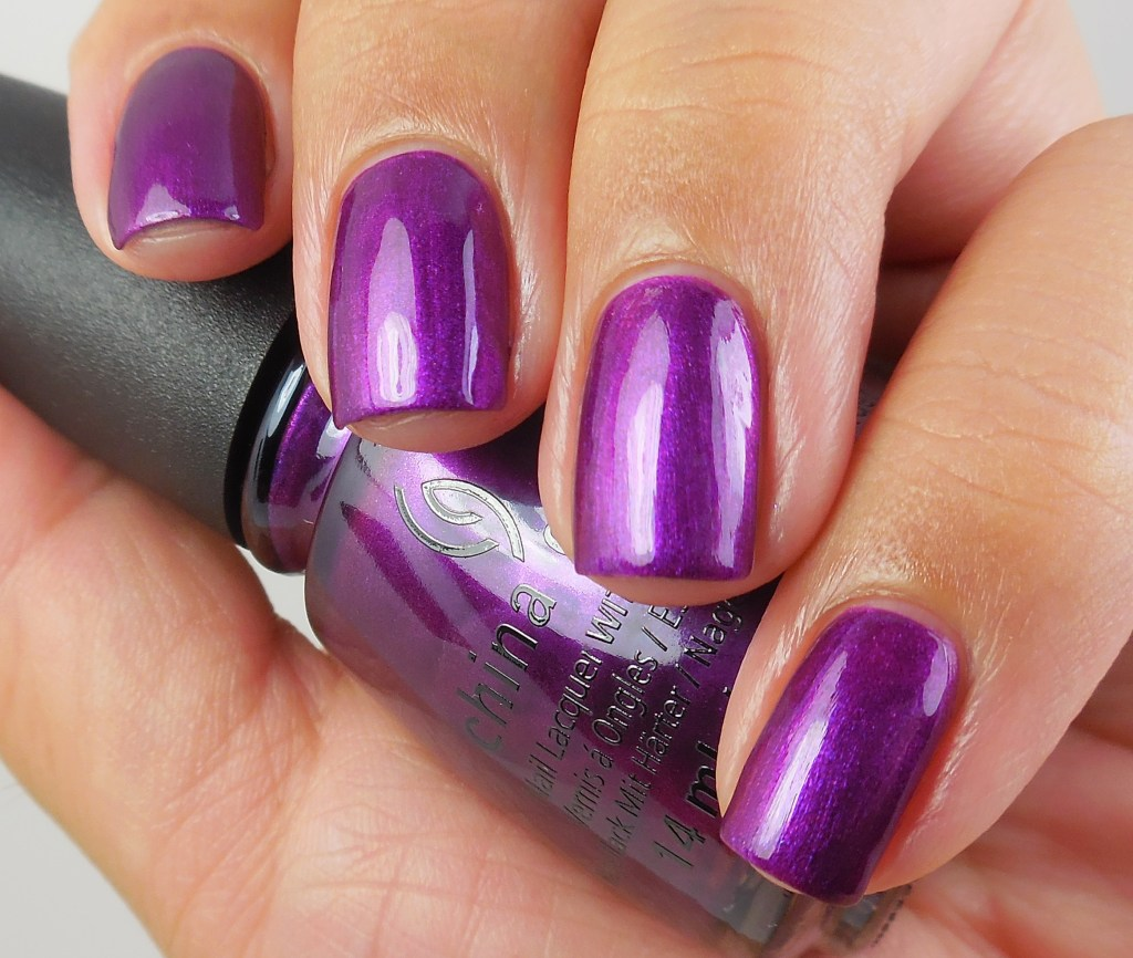 China Glaze Purple Fiction 1