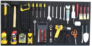 Use a pegboard to store hand and garden tools. Such a time and space saver!