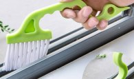 This weird looking cleaning tool is perfect for cleaning those small spaces and crevices around your house!