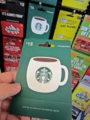 Always buy gift cards in bulk, you will always have a quick gift to give to family and friends whenever the occassion arises.