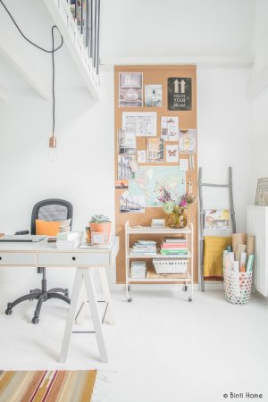 Install a pegboard in your home office.