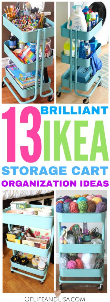 Organize Every Room In Your Home With An IKEA Storage Cart. You Will Love  These