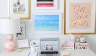 Make a frame collage of your favorite pictures for your home office wall.