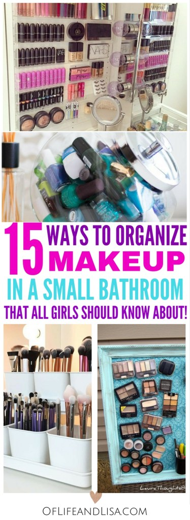 Here's 13 brilliant ways to organize your makeup if you have a small bathroom. Every girls should know this!