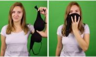 Use your bra as a smoke mask in an emergency situation. I love this life hack. Please share with your friends.
