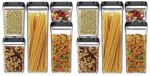 My kitchen cabinets are so organized with these airtight containers. Pin if you would like to to organize your kitchen with these!