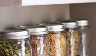 Use mason jars to organize your pantry.