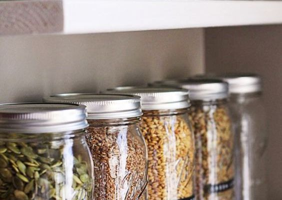 Use mason jars to organize your pantry.