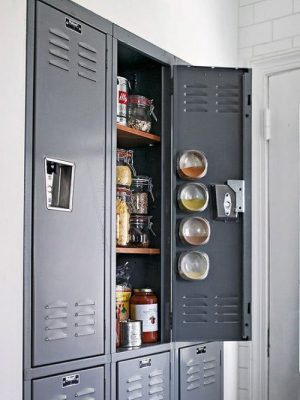 Use a simple locker to add kitchen storage space.